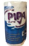PIPA Pure  tekercses háztartási kéztörlő, 14 cm átmérő, 2 rétegű, 100% tiszta cellulóz alalpú papírból