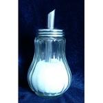 Gastroline cukorszóró, üveg, 12 cm 150ml, fém tető, fém adagolócső