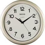 Falióra Secco 30cm ezüst keret / fehér számlap