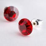 Swarovski kristályos fülbevaló piros kővel