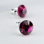 Swarovski kristályos fülbevaló pink kővel
