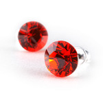 Swarovski kristályos fülbevaló narancs kővel
