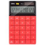 Deli 01589 számológép asztali 12 digit,, piros