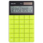 Deli 01589 számológép asztali 12 digit,, zöld