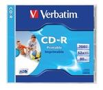 Verbatim CD-R 700 MB, 80min, 52x, normál tok, szélesen nyomtatható, matt,'ID'