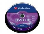 Verbatim DVD+R 4,7 GB 16x, 10db/henger (AZO)