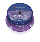 Verbatim DVD+R 4,7 GB 16x, 25db/henger (AZO)