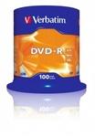 Verbatim DVD-R 16x, 100db/henger (AZO)