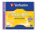 Verbatim DVD+RW 4,7 GB, 4x, újraírható, normál tokban (SERL)