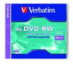 Verbatim DVD-RW 4x, újraírható, normál tokban (SERL)
