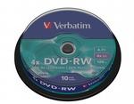 Verbatim DVD-RW 4x, újraírható, 10db/henger (SERL)