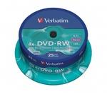 Verbatim DVD-RW 4x, újraírható, 25db/henger (SERL)