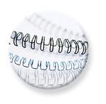 Fellowes 6 mm fém spirál, fehér, 21-35 laphoz 100db/CSM
