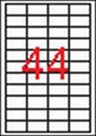 Apli 4 pályás etikett, 48,5 x 25,4 mm, 4400 címke/doboz