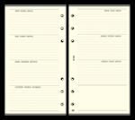 Kalendárium betét, heti tervező bianco, S, SATURNUS, chamois, S358