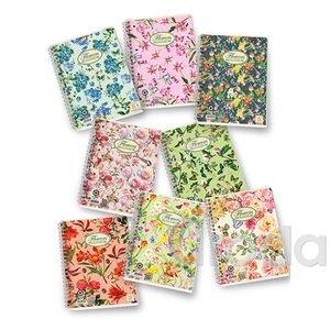 Spirálfüzet Pigna Nature Flowers A/5 60 lapos kockás