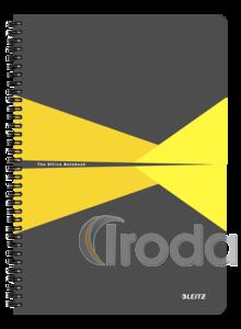 Leitz Office spirálfüzet PP borítóval, A4, kockás, sárga 44950015