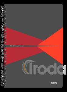 Leitz Office spirálfüzet PP borítóval, A4, kockás, piros 44950025