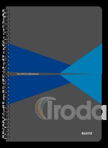 Leitz Office spirálfüzet PP borítóval, A4, kockás, kék 44950035