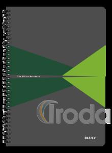 Leitz Office spirálfüzet PP borítóval, A4, kockás, zöld 44950055
