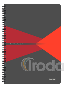 Leitz Office spirálfüzet PP borítóval, A4, vonalas, piros 44960025