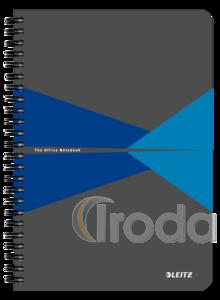 Leitz Office spirálfüzet PP borítóval, A5, kockás, kék 44980035