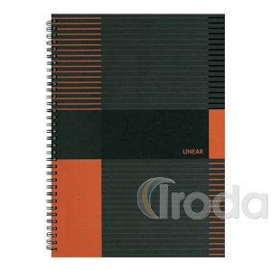 Marker Linear Spirálfüzet A4 kockás, 80 lap , keményfedelű, duplaspirálos
