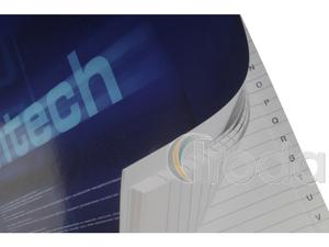 Hightech regiszteres mutató füzet, A4,100lapos, vonalas