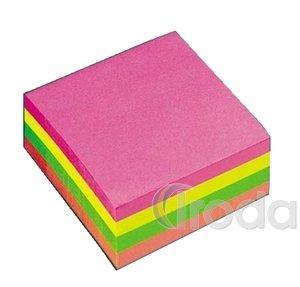 Öntapadó jegyzettömb 75x75 400/450l neon színek