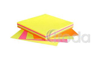 Öntapadó jegyzettömb 75x75mm 4x25lap neon mix