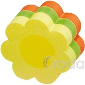 Öntapadó jegyzettömb 50x50mm 225lap, virág forma, neon vegyes színek