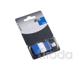 Jelölő címke átlátszó kék 25x43mm,  lap