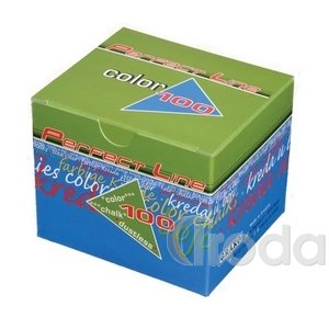 Táblakréta pormentes kerek színes 100db/doboz