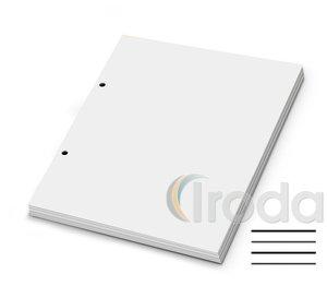 Gyűrűskönyvbetét A5 VONALAS 50lapos, 2 lyukas