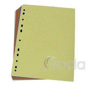 Elválasztó kartonlapok 23,5x29,7cm színes 100db/csomag