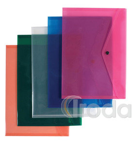 Irattartó tasak P+P A4, patentos, műanyag, áttetsző