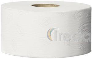 Toalettpapír, T2 rendszer, 2 rétegű, 19 cm átmérő, TORK Advanced mini jumbo, fehér