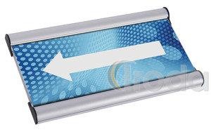 Irányító- és ajtótábla alumínium profil 50x100mm Jansen Display