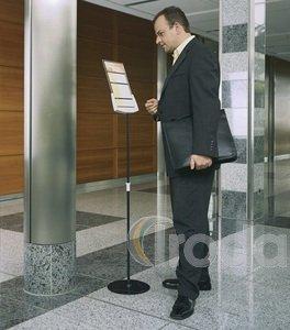 Bemutató tábla tartó padlóállvány teleszk. DURABLE SHERPA