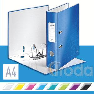 Iratrendező Leitz lakkfényű 180 fokos, 80mm, kék 10050036