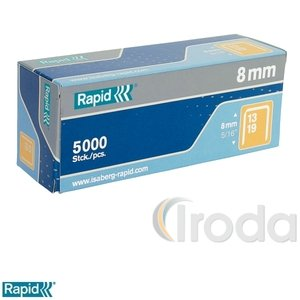 Tűzőkapocs Rapid 13/8 horganyzott 5000db/doboz 11835600