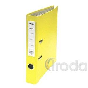 Iratrendező A4 5,5cm gerinc, sárga, lapraszerelt