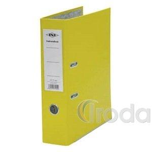 Iratrendező A4 75mm gerinc, sárga, lapraszerelt