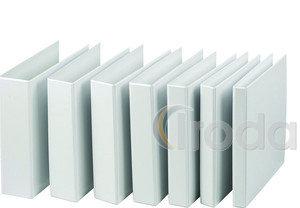 P+P panorámás gyűrűskönyv A/4 4 'D' gyűrűs fehér 7,5cm gerinc, 5,5 cm gyűrű PVC