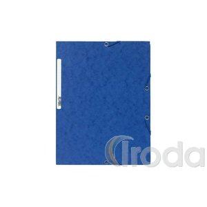 Gumis mappa EXACOMPTA prespán A/4 kék