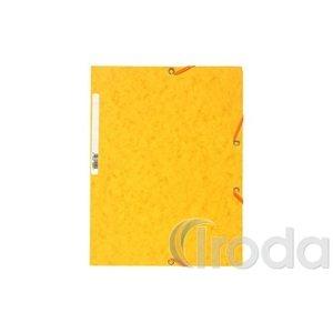 Gumis mappa EXACOMPTA prespán A/4 sárga