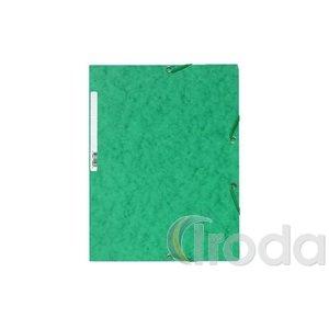Gumis mappa EXACOMPTA prespán A/4 zöld