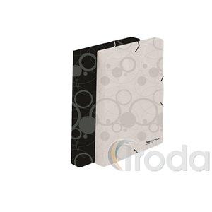 P+P Black&White gumis mappa,A4,fehér