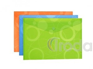 P+P Neo Colori irattató patentzárral,A4,narancssárga 5db/cs