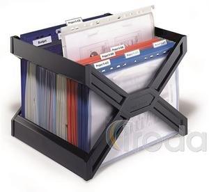 Függőmappatartó Durable Carry Plus fekete, 30 db mappához, üresen